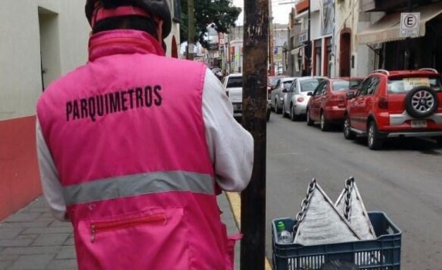 Suspenden operación de parquímetros en Chiautempan llegara nueva empresa