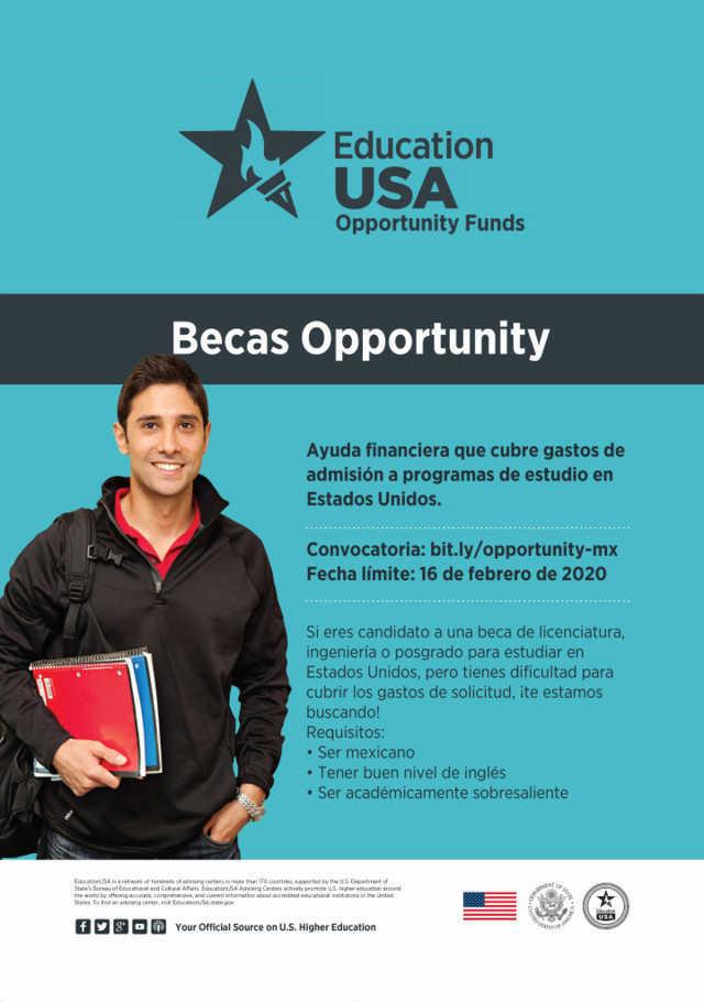 Embajada de Estados Unidos invita a tlaxcaltecas a participar por la Beca Opportunity
