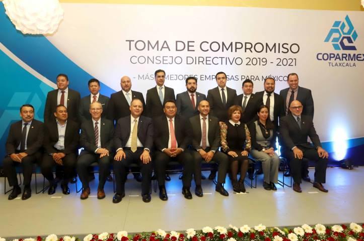 Atestigua Segob toma de compromiso del consejo directivo de la Coparmex Tlaxcala