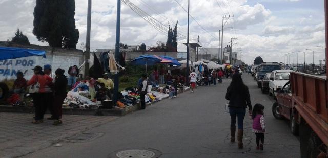 Ante el desorden de comerciantes, se calientan los ánimos en Chiautempan