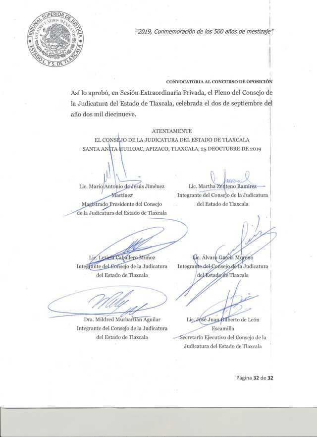 Convocatoria para la designación de jueces en Tlaxcala