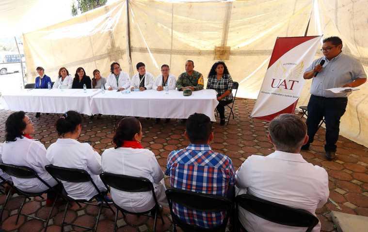 Participa la UATx en cruzada de salud interinstitucional