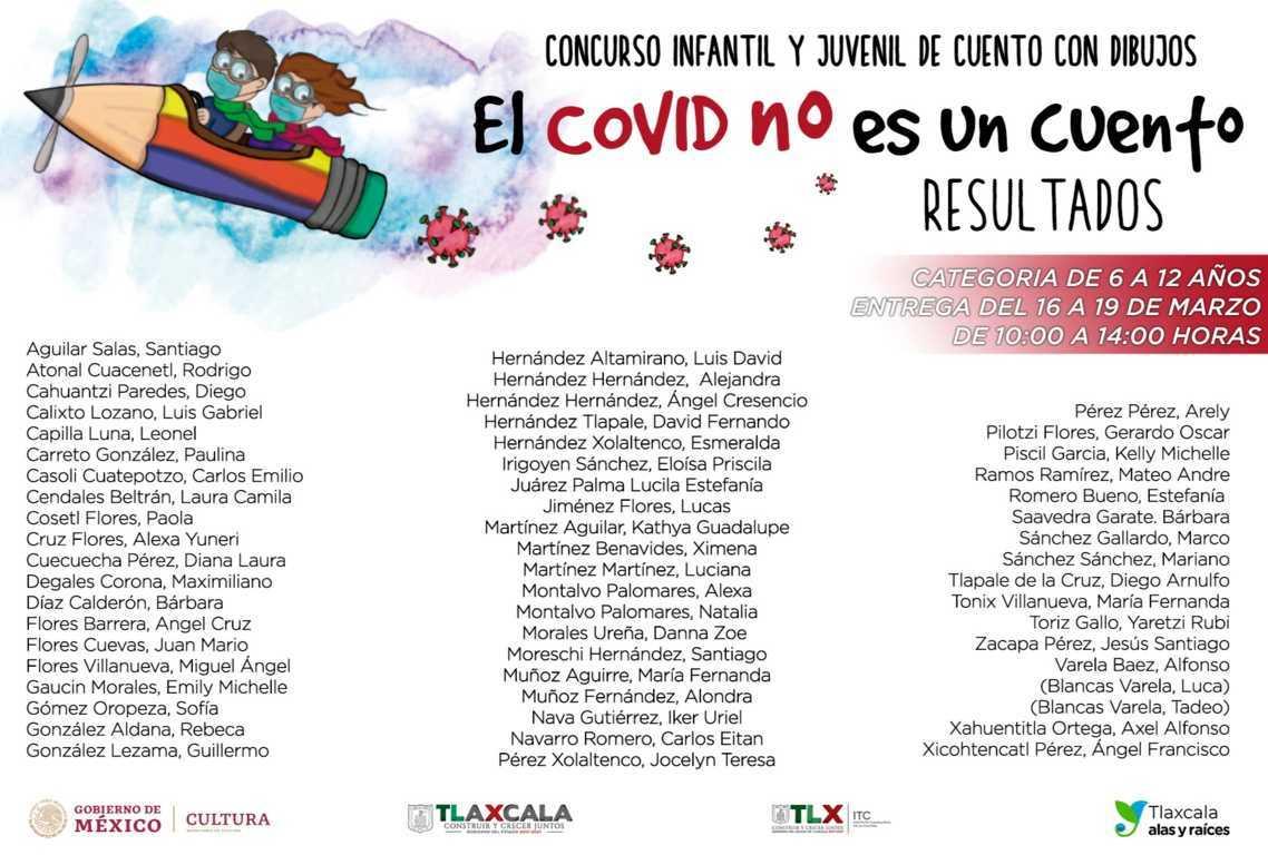 """Presenta ITC resultados del concurso infantil y juvenil """"El Covid No Es Un Cuento"""""""