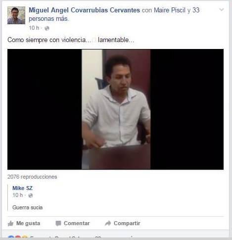 Mapache del PRD acusa que antes de ingresarlo en la PGJE lo torturaron para cantar