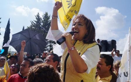 Voy por la anulación  de la elección, dice Lorena Cuéllar