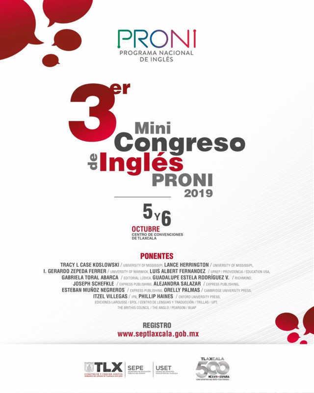 Invita SEPE a docentes a participar en el tercer mini congreso de inglés Proni 2019