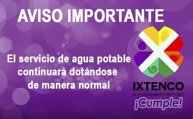 SERVICIOS CONTINUARAN DE MANERA NORMAL EN IXTENCO