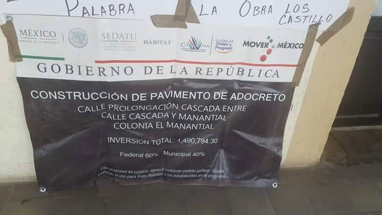 Exigen a alcalde de Calpulalpan conclusión de obra