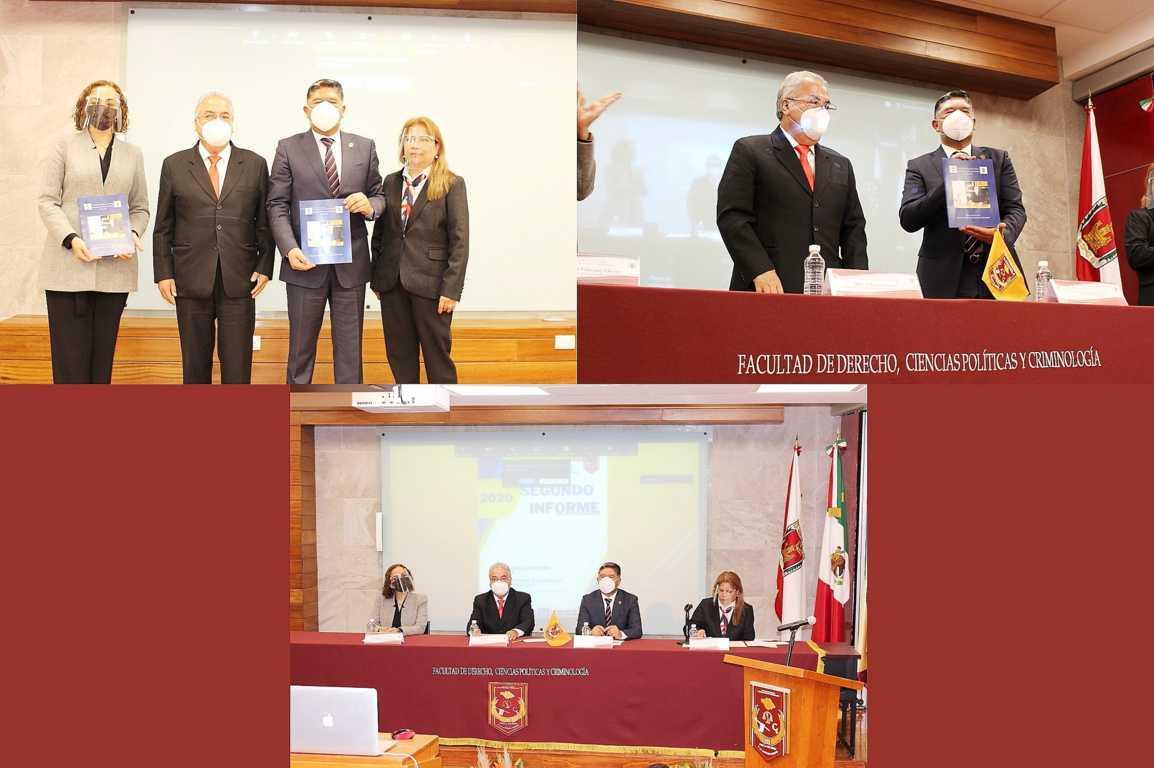 Presentaron informe de actividades en la Facultad de Derecho de la UATx