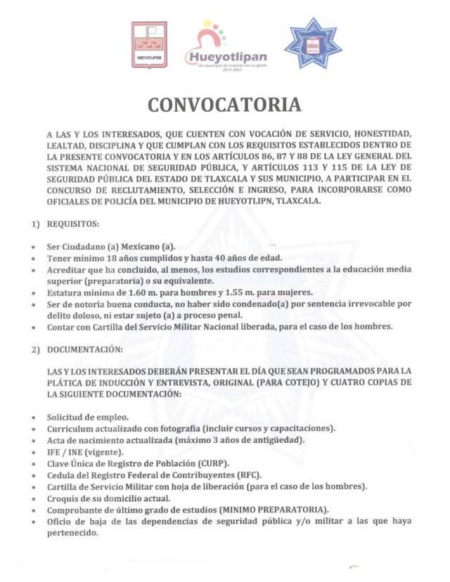 Ayuntamiento abre convocatoria para contratar nuevos policías