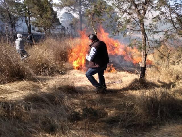 Autoridades municipales se sumaron para combatir incendio en Rancho Seco