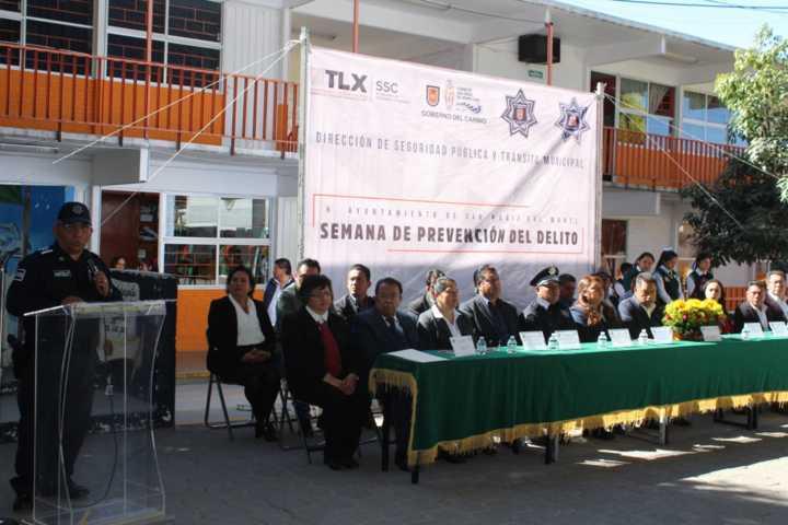 Inicia Semana De Prevención Del Delito  en San Pablo Del Monte