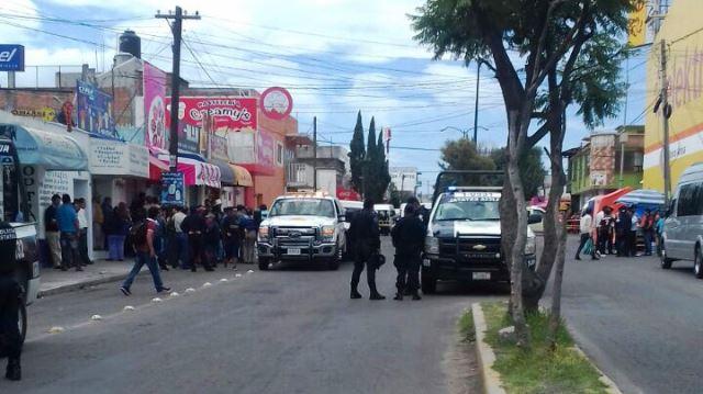 Lesionados deja zafarrancho entre ambulantes en Apizaco