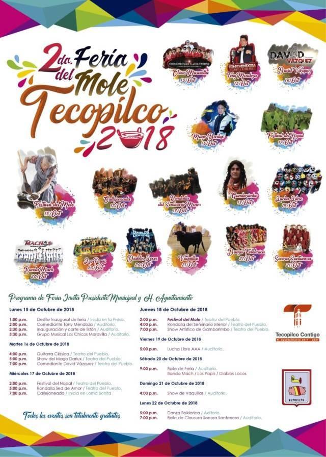 Este lunes 15 arranca la 2da Feria del Mole Tecopilco 2018