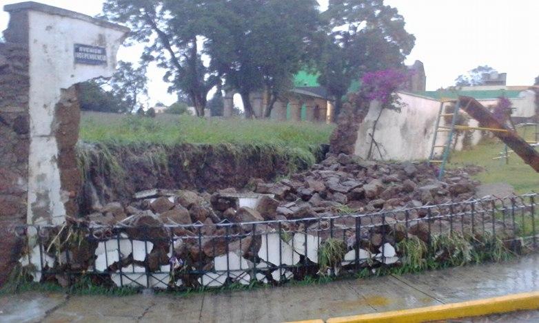 Lluvia atípica causa daños materiales en Tlaxcala