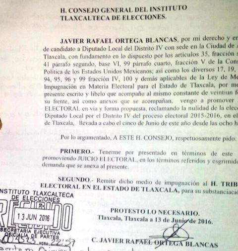 Impugna Rafael Ortega triunfo de Mariano González