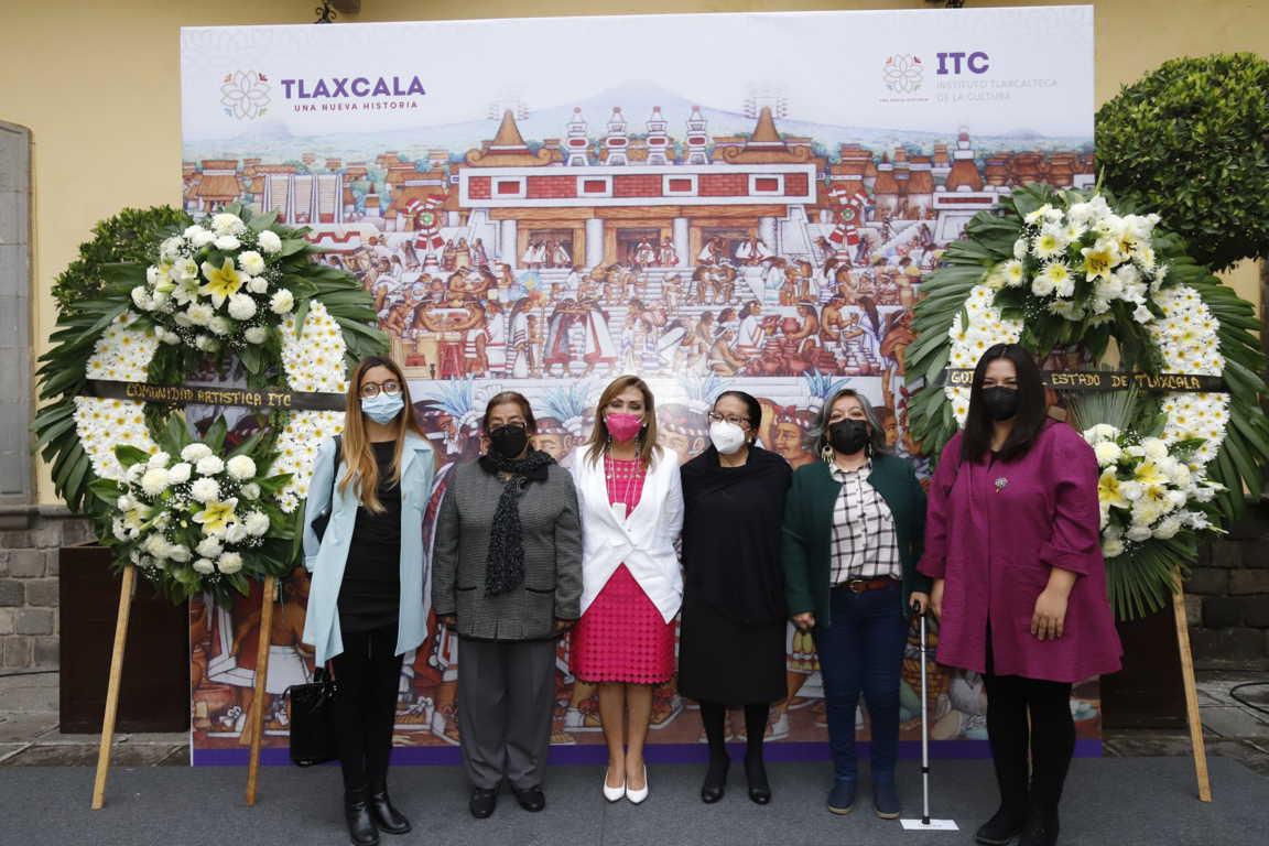 Encabeza Gobernadora Lorena Cuéllar homenaje a Desiderio Hernández Xochitiotzin por su XIV Aniversario Luctuoso