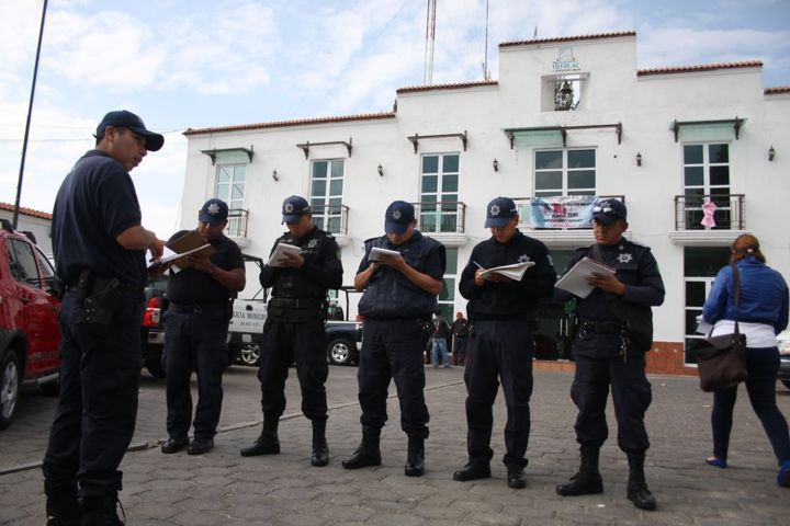 Policía municipal de Totolac avanza en la certificación de elementos policiacos
