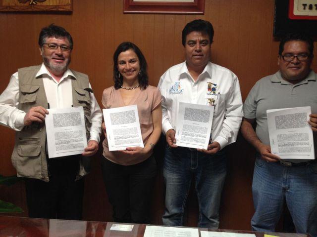 Firman convenio para construcción de centro deportivo en Totolac