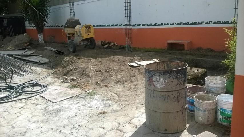 Finaliza espera de escolares, inician construcción de domo