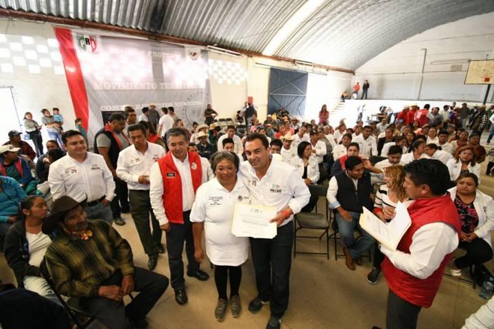 Toma protesta Mariano González a estructuras del MT de Altzayanca, Tequexquitla y Cuapiaxtla