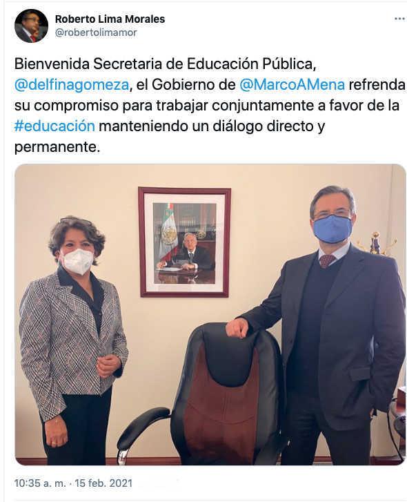 Eligen como nueva Secretaria de Educación Pública a Delfina Gómez Álvarez