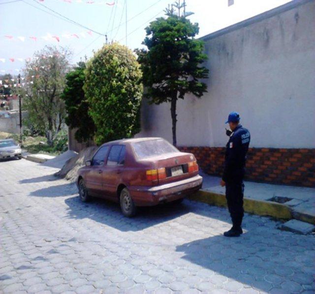 Recuperan en Totolac vehículo con reporte de robo