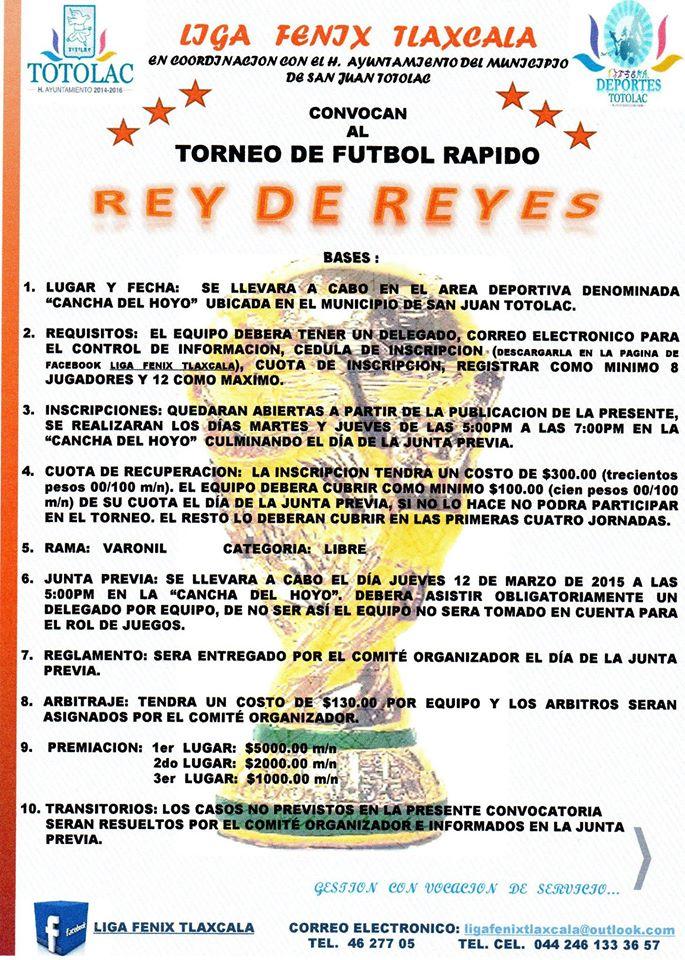 Anuncian Torneo de futbol rápido en Totolac