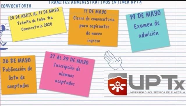 La UPTx da a conocer procedimiento en línea para nuevo ingreso