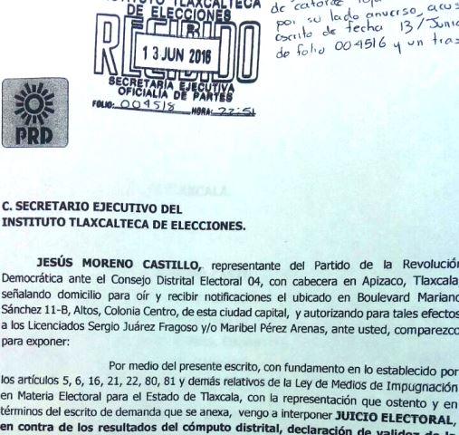 PRD también impugna triunfo de Mariano González Aguirre