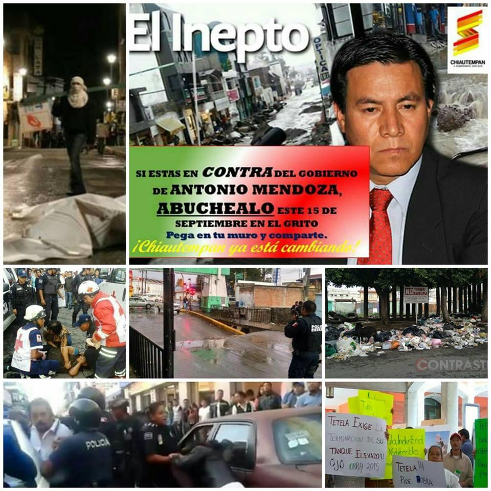 Detractores pretenden boicotear ceremonia del Grito en Chiautempan
