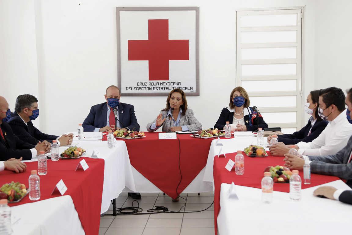 Ofrece Lorena Cuéllar apoyo a la cruz roja para mejorar atención a la población