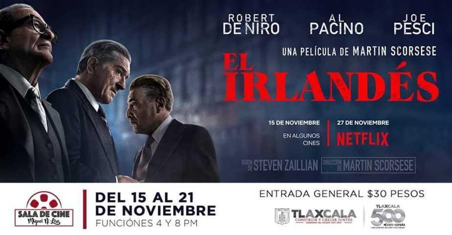 Estreno de El Irlandés en la Sala De Cine Miguel N. Lira