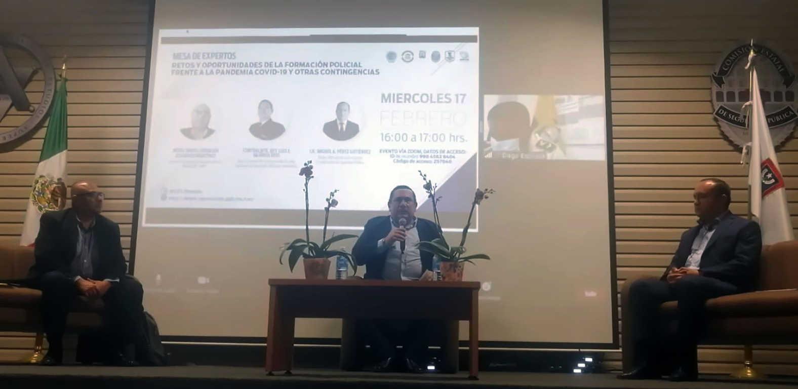 El IFCSP participó en la mesa de expertos Retos Y Oportunidades De La Formación Policial En Morelos