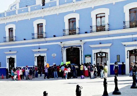 Comerciantes de temporada protestaron en Huamantla