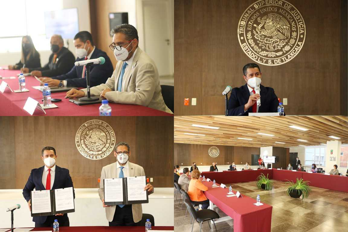 Acuerdan UATx y Poder Judicial continuar con el trabajo interinstitucional