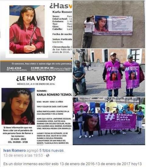 A un año que desapareció Karla Romero y la PGJE no logra dar resultados