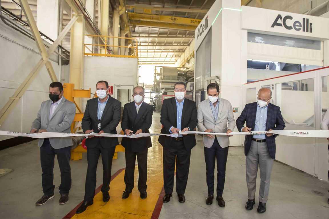 Marco Mena inaugura empresa BLUE TISSUE; sigue llegando inversión a Tlaxcala