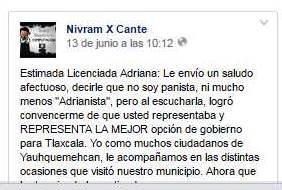 Simpatizante de Adriana Dávila le pide que renuncie a la Senaduría