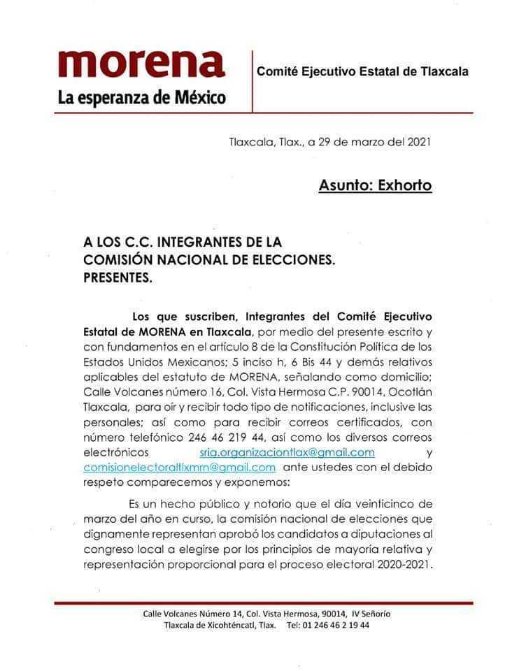 Morenistas se quejan por desaseo en designación de diputaciones locales