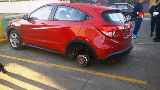 Hampones optan por robar llantas de vehículos recientes y de lujo