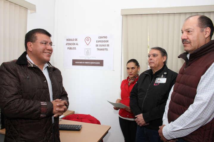 Sefoa y Sagarpa habilitan cuatro centros de expedición de guías de tránsito