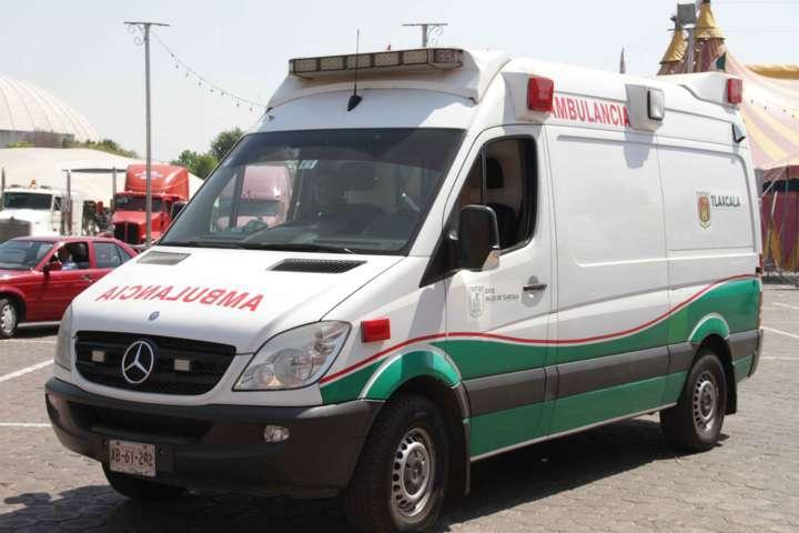 Reciben atención lesionados en percance automovilístico en Huamantla