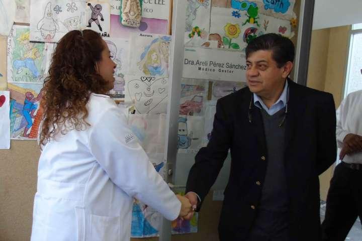 Supervisa Alberto Jonguitud atención en hospitales y centros de salud