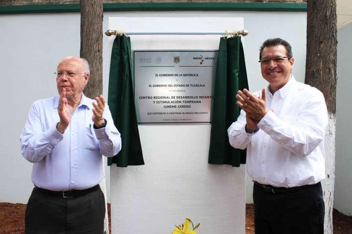 Inauguran Marco Mena y José Narro nuevo Centro de Desarrollo Infantil