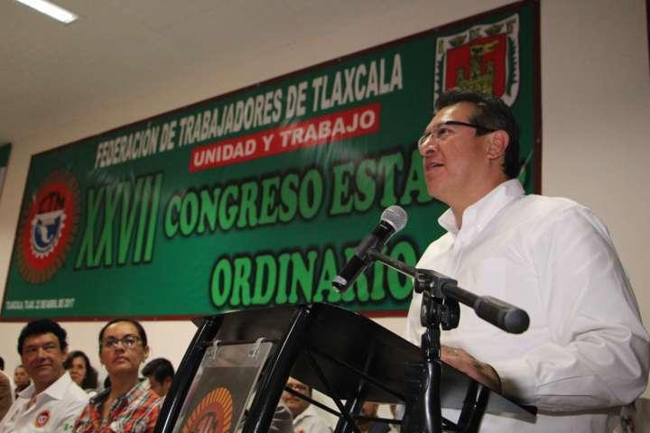 Trabajadores, motor para que Tlaxcala destaque: Marco Mena