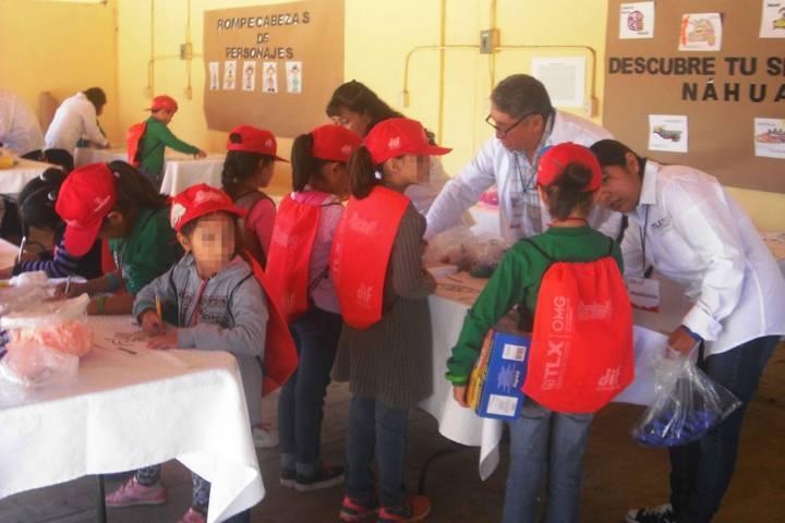 Aprenden historia de Tlaxcala infantes del curso de verano del DIF