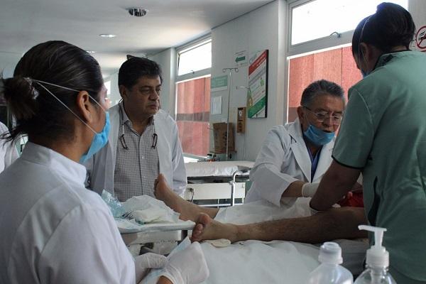 Recibieron atención médica lesionados de la Huamantlada