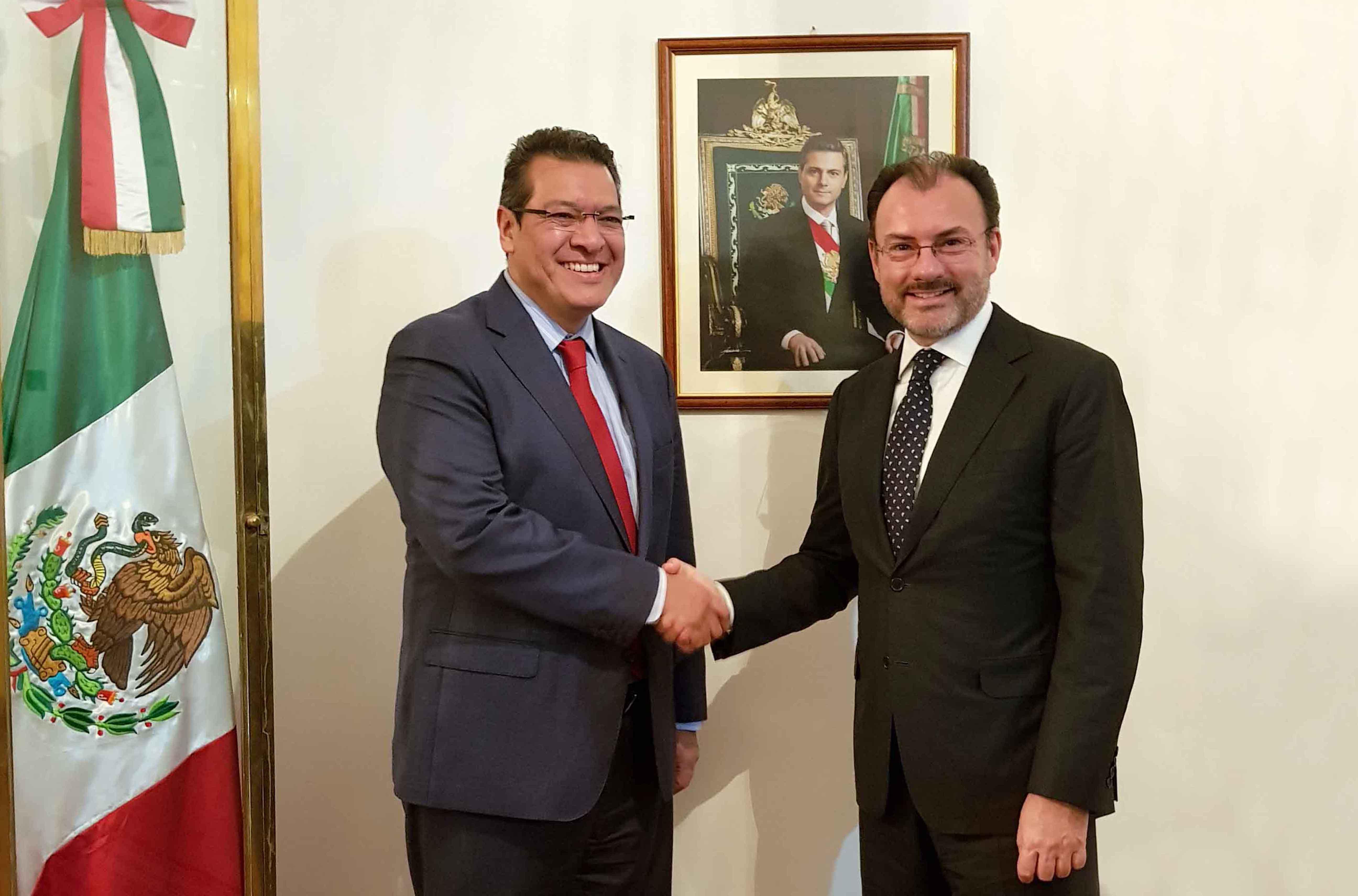 Marco Mena se reúne con Luis Videgaray en Italia