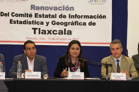 Instalan Comité Estatal de Información Estadística y Geográfica